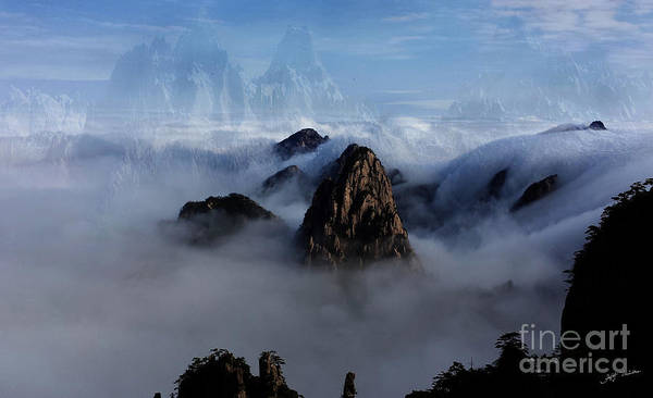 Wall Art - Photograph - Morning Fog China Mountains by Heinz G Mielke