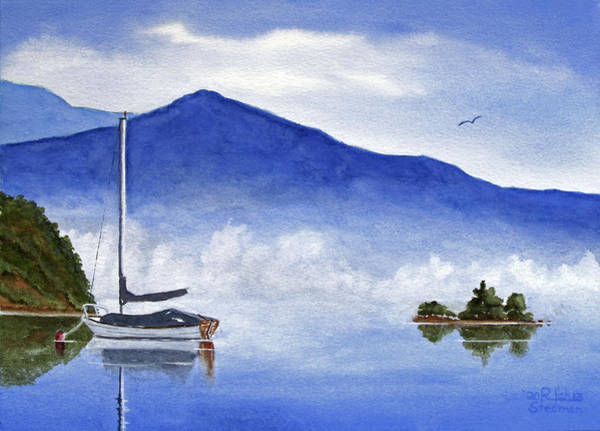 Painting - Morning Fog Lifting by Rich Stedman