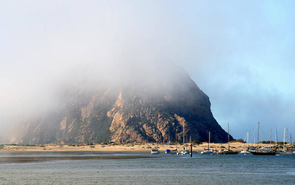 Photograph - Morning Fog Over Morro Rock by AJ  Schibig