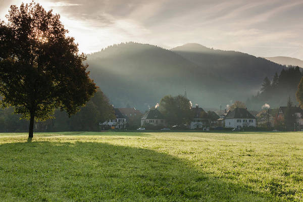 Strasse Photograph - Morning Fog Over The Schauinsland by Panoramic Images