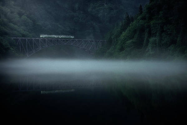 Bridge Photograph - Morning Fog by Takeru Watanabe