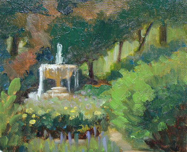 Painting - Morning Fountain by Judy Fischer Walton