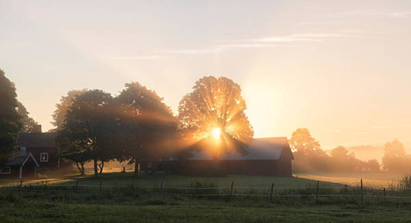 Farmhouse Photograph - Morning Has Broken by Christian Lindsten
