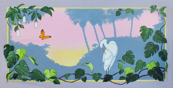 Painting - Morning Heron by Chris McCullough