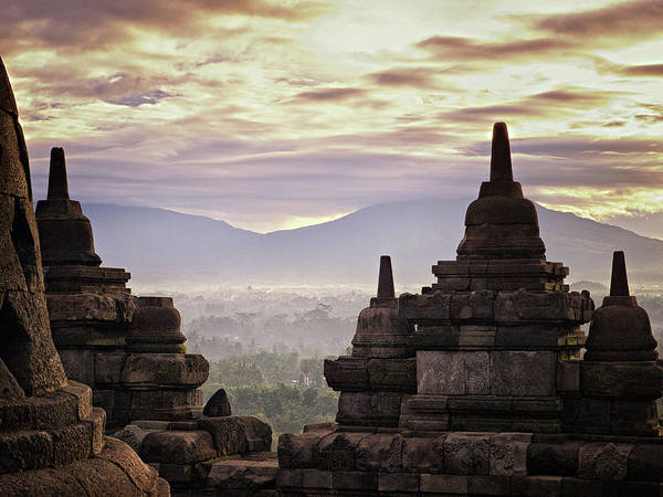 Indonesian Culture Photograph - Morning In Borobudur Temple by Dian Savitri