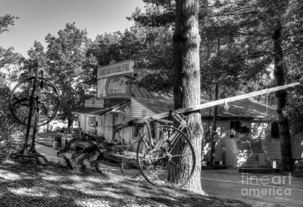 Photograph - Morning In Rabbit Hash Bw by Mel Steinhauer