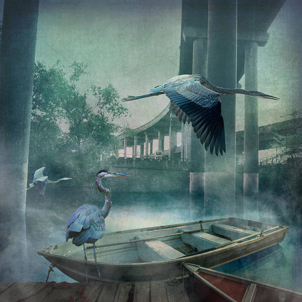 Marsh Bird Digital Art - Morning In The Urban Marsh by Bryan Dechter