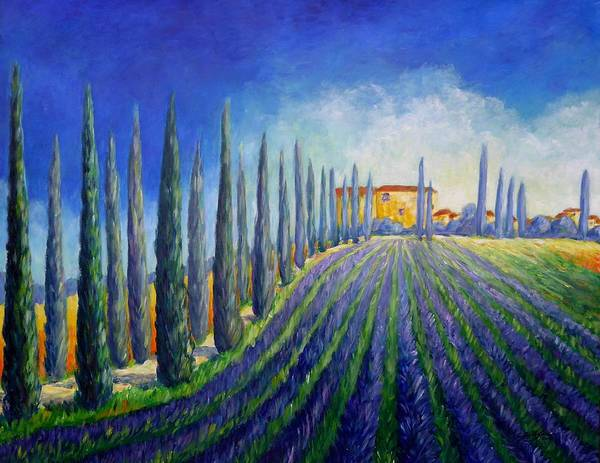 Wall Art - Painting - Lavender Field by Cristina Stefan
