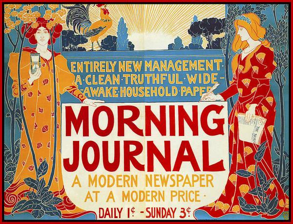 Photograph - Morning Journal 1895 by Louis John Rhead