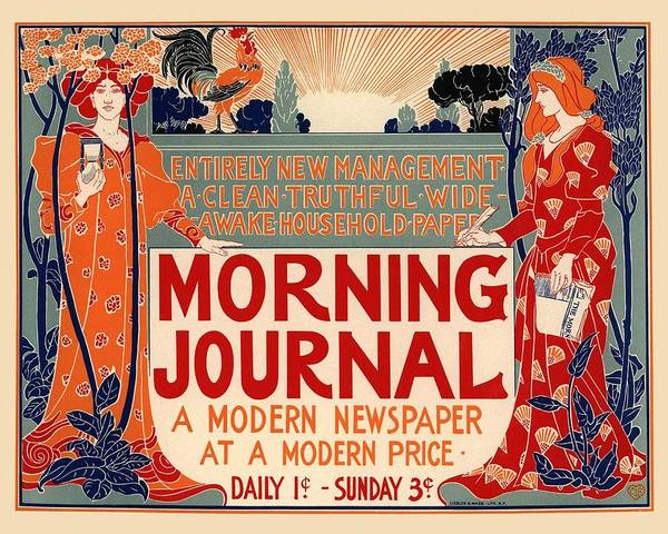 Vintage Poster Wall Art - Photograph - Morning Journal by Gianfranco Weiss