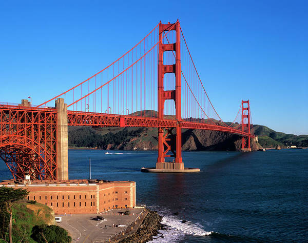 Developed Wall Art - Photograph - Morning Light Bathes The Golden Gate by John Alves
