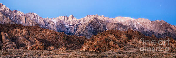 Photograph - Morning Light Mount Whitney by Anthony Bonafede