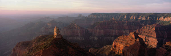 North Rim Photograph - Morning Light On The Grand Canyon by Panoramic Images