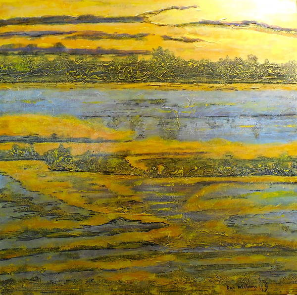 Don Williams Painting - Morning Sun On The Marsh by Don Williams