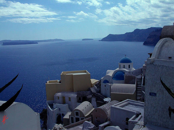 Photograph - Morning Meditation Santorini Island Greece by Colette V Hera  Guggenheim