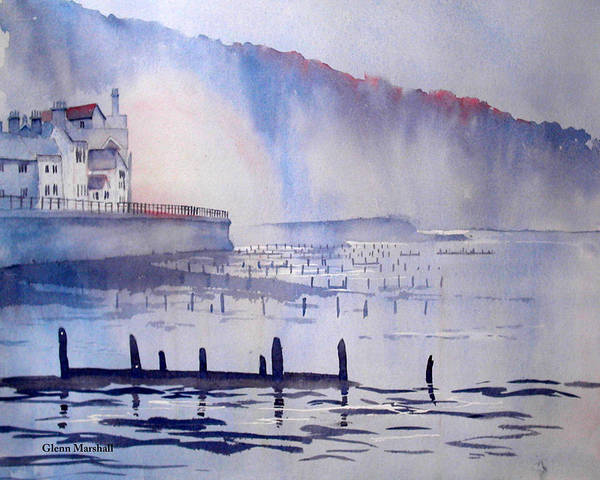 Morning Mist At Sandsend Art Print