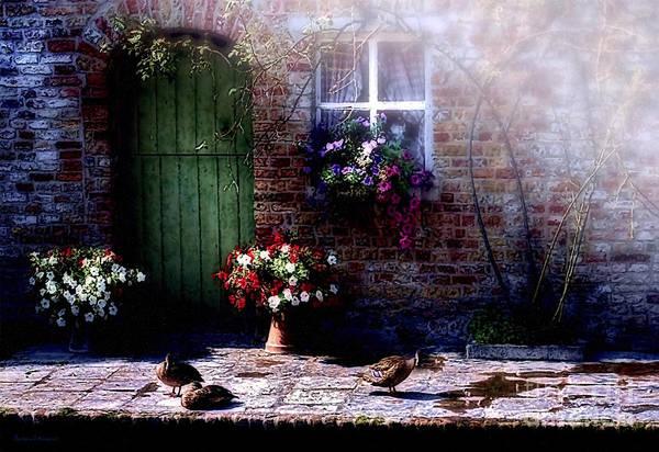 No Entry Digital Art - Morning Mist by Barbara D Richards