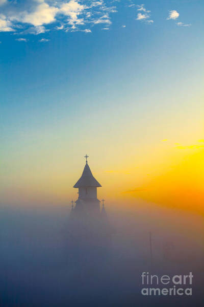 Wall Art - Photograph - Morning Mist Over The Church by Gabriela Insuratelu