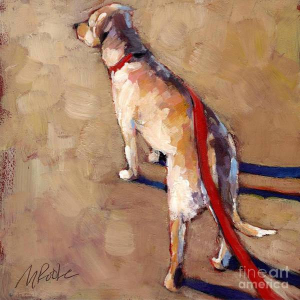 Leash Wall Art - Painting - Morning by Molly Poole