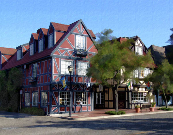 Photograph - Morning On 2nd Street Solvang California by Kurt Van Wagner