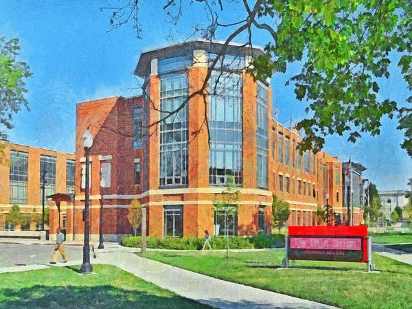 Osu Digital Art - Student Union. The Ohio State University by Digital Photographic Arts