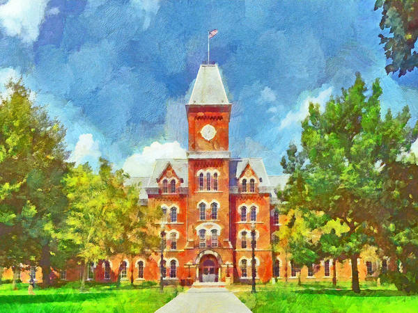 Digital Art - University Hall.  The Ohio State University by Digital Photographic Arts
