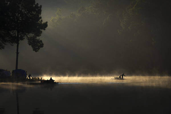 Culture Wall Art - Photograph - Morning On The Lake by Tippawan Kongto