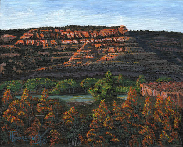 Bluffs Painting - Morning Over The Bluffs by Timithy L Gordon