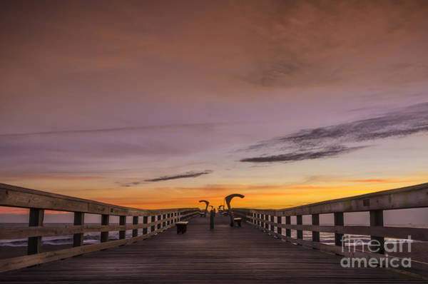 St Augustine Photograph - Morning Pier Deck by Marvin Spates