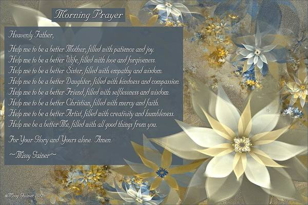 Digital Art - Morning Prayer by Missy Gainer
