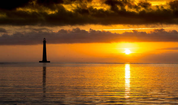 Photograph - Morning Reflection Morris Island Lighthouse by Donnie Whitaker