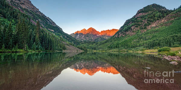 Maroon Bells Photograph - Morning Reflections by Michael Ver Sprill