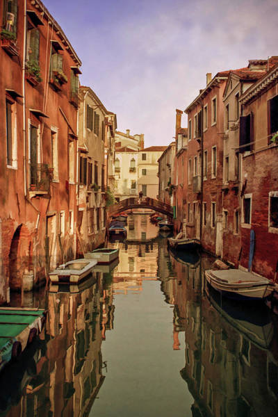 Mixed Media - Morning Reflections Of Venice by Cliff Wassmann