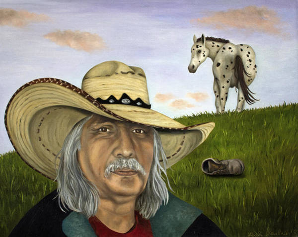 Sombrero Painting - Morning Ride by Leah Saulnier The Painting Maniac