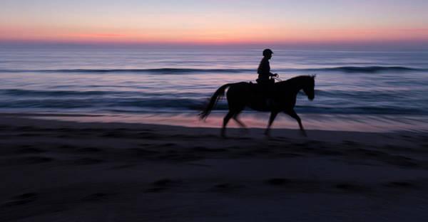 Confidence Photograph - Morning Ride, Vilano Beach, Florida by Maresa Pryor