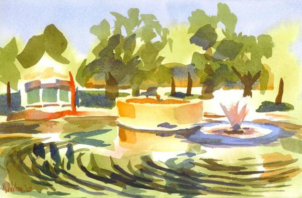 Painting - Morning Ripples At Ste. Marie Du Lac Pond by Kip DeVore
