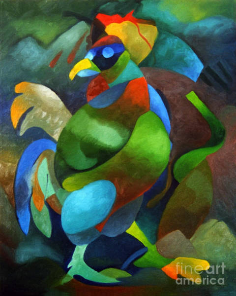Painting - Morning Rooster by Sally Trace