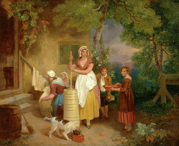 Butter Churn Painting - Morning Signed And Dated by Litz Collection