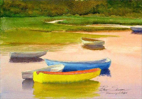 Painting - Morning Skiffs by Peter Senesac