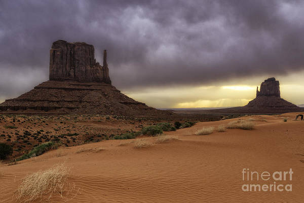 Photograph - Morning Storm Over Monument Valley by Stuart Gordon