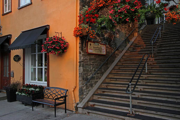 Photograph - Morning Stroll On Rue Du Petit Champlain by Juergen Roth