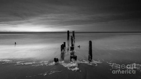 Reverse Wall Art - Photograph - Morning Suds 16x9 Bw by Michael Ver Sprill