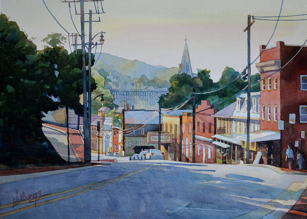 Long Shadow Painting - Morning Sun On Main by Mick Williams