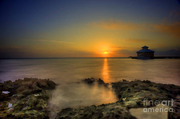 Photograph - Morning Sun Rising In The Grand Caymans by Dan Friend