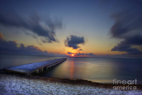 Photograph - Morning Sunrise On The Beach By The Dock by Dan Friend