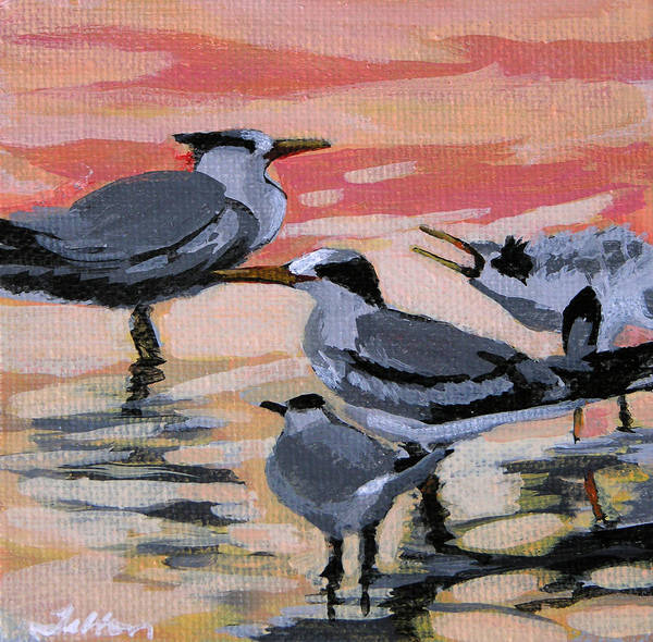Painting - Morning Terns by Julianne Felton