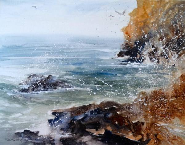 Morea Wall Art - Painting - Morning Tide by Sandra Strohschein