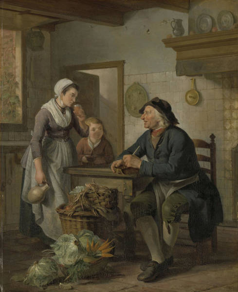 Wall Art - Drawing - Morning Visit, Adriaan De Lelie by Litz Collection