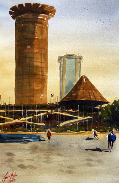 Wall Art - Painting - Morning Workhours In Nairobi by James Nyika