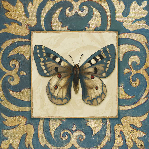 Teal Mixed Media - Moroccan Butterfly I by Patricia Pinto